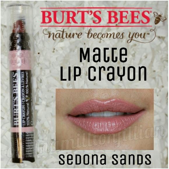 Burts Bees 100% Natural Moisturizing Lip Crayon, Sedona Sands, 1 Precision Application Crayon Bulldog Face Scrub, Original, 3.3 Fl Oz