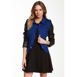 [romeo & juliet couture] leather tweed jacket