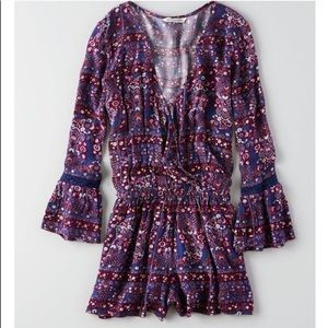 American Eagle Outfitters Other - New American Eagle Bell Sleeve Romper - Large