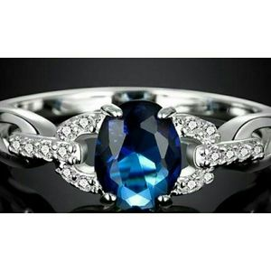 Life by Design Jewelry - Blue Sapphire with CZ .925 Sterling Silver Ring