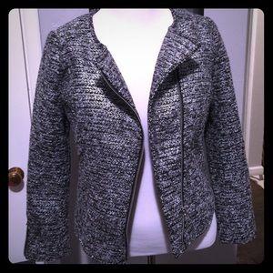 H&M metallic tweed jacket