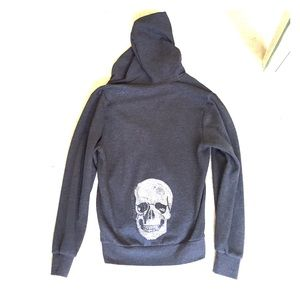 Kings of Cole Tops - KKINGS OF COLE. OVERSIZED SKULL HOODIE. SIZE XS