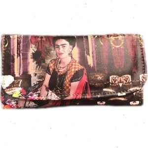 Cielito Lindo  Handbags - New Frida Kahlo Wallet with Mirror Full Size