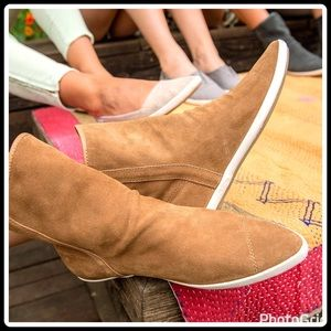 """Sanuk Shoes - """"SLOUCH"""" SUEDE BOOTIES"""
