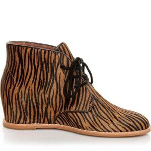 Matiko Shoes - Matiko Sharon Zebra Pony Hair Wedge Sneaker