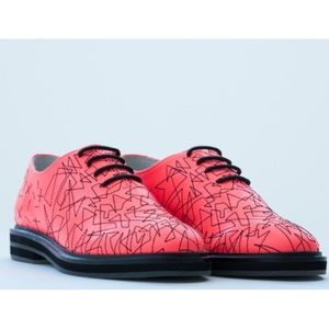 YES Shoes - YES Shoes Tiger Embroidered Leather Oxford