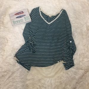 Anthropologie Meadow Rue striped shirt size small