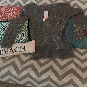 Joe Fresh Sweaters - JOE FRESH Sparkly Night on the Town V neck Sweater