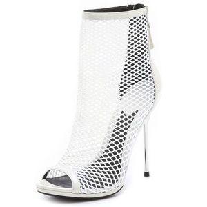 Brian Atwood White Mesh Heels