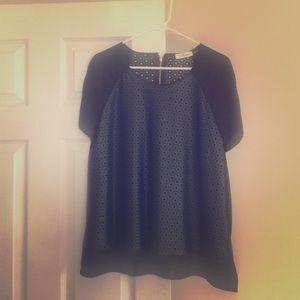 Calvin Klein Tops - Beautiful faux leather black blouse