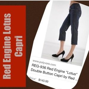 Red Engine Denim - Red Engine Lotus Cropped Jeans