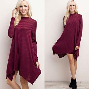 ‼️SALE‼️Ribbed Mock Neck Mini Dress