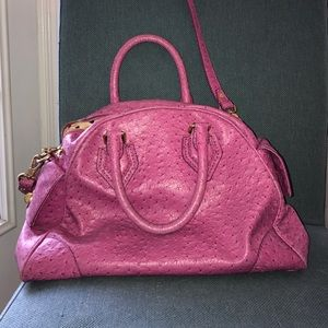 Marc by Marc jacobs pink ostrich satchel