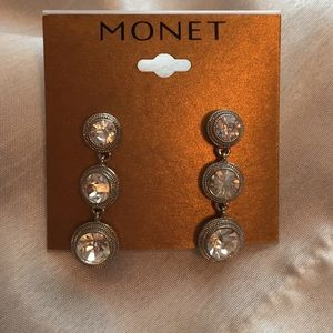 Monet Crystal Dangle Earrings - Drop and Linear