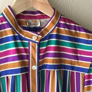 VINTAGE Colorful Striped Dress