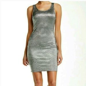 🏮NWOT SOPRANO Large Silver BodyCon Dress