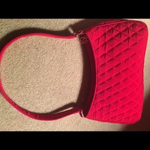 Vera Bradley Red Quilted Shoulder Handbag