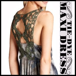 Boutique Dresses & Skirts - Tie-Dye Maxi Dress
