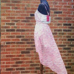 Candie's Dresses & Skirts - NEW Medium Pink Hi Low Sheer Candies Dress Lace Bk