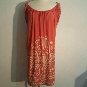BCBGMaxAzria Dresses & Skirts - BCBGMAXAZRIA Coral/Orange Open Back Dress