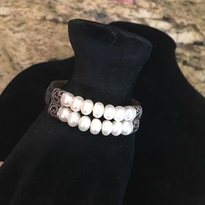 Honora Jewelry - Bracelet with sterling silver/ pearl detailing
