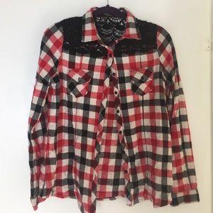Tops - Plaid button down shirt