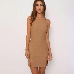 Dresses & Skirts - Camel Mini Dress
