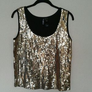 BISOU BISOU SEQUINED FRONT TOP