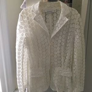 ANNE FONTAINE Jackets & Blazers - ANNE FONTAINE beautiful white knit  jacket