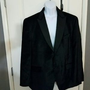 Sean John Other - SEAN JOHN MEN BLACK VELVET 2 BUTTON  BLAZER SZ 46R
