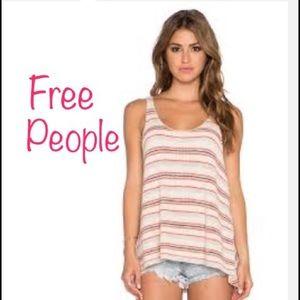 Free People Tops - Free People   striped loose tank top