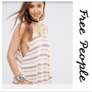 Free People | striped loose tank top