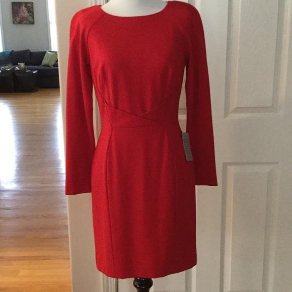 5bc81b9ec119 Tahari Dresses | By Arthur Levine Red Long Sleeve Dress | Poshmark