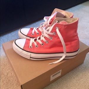 Converse Shoes - Converse Pink High Top All Stars Size 6