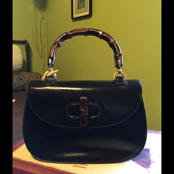 25a12d6803b Gucci Handbags - Vintage Gucci bamboo handbag