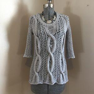 Calypso St. Barth Sweaters - Calypso St Barth Large Shoshana Open Knit Sweater