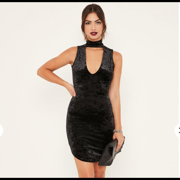 543bcf7691a90 Missguided Dresses | Black Velvet Choker Dress | Poshmark