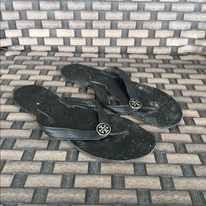 Tory burch black sandals 9