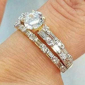 14k yellow Gold 0.50ct Engagement ring 2pc set