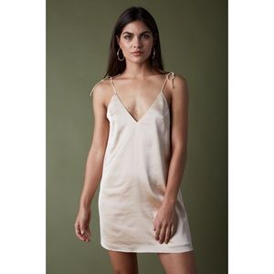 Together At Last Satin Slip Dress - Champagne