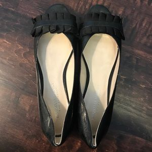 Christian Siriano Shoes - EUC black peep toe ballerina flats
