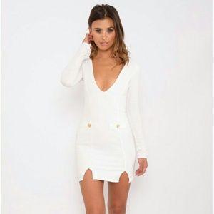 Dresses & Skirts - White Long Sleeve Dress