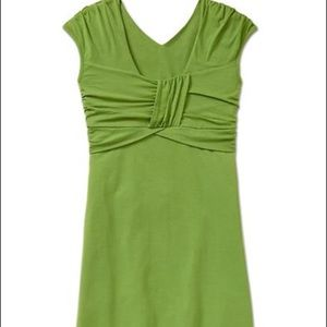 Athleta Leighani dress in leaf green