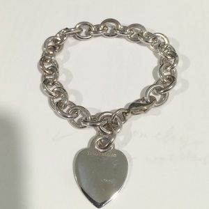 Tiffany & Co. Sterling Silver Heart Charm Bracelet