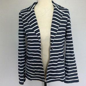 Old Navy Navy Blue White Striped Blazer Size Small