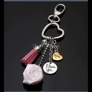 "Boutique Accessories - ❤️ ""I Love You Mom"" Purse Charm"