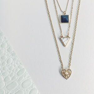 Jewelry - Brianna Dainty Boho Gold Heart Layered Necklace