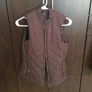 Jackets & Blazers - Puff Brown Vest