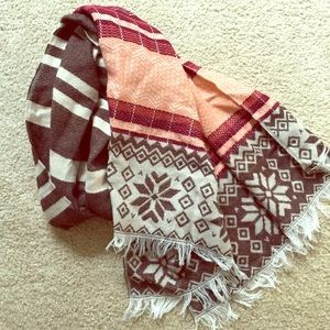 Accessories - Brown and Pink Scarf