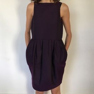 Purple & Textured Valentino Dress with pockets